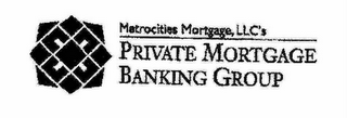 mark for METROCITIES MORTGAGE, LLC'S PRIVATE MORTGAGE BANKING GROUP, trademark #78554326