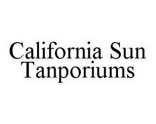 mark for CALIFORNIA SUN TANPORIUMS, trademark #78557158
