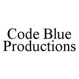 mark for CODE BLUE PRODUCTIONS, trademark #78560313