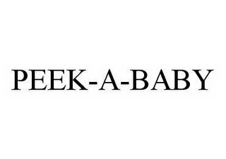 mark for PEEK-A-BABY, trademark #78562534