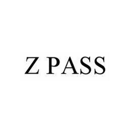 mark for Z PASS, trademark #78563928