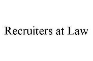 mark for RECRUITERS AT LAW, trademark #78564456