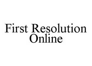 mark for FIRST RESOLUTION ONLINE, trademark #78564831