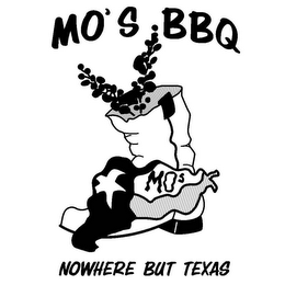 mark for MOS MO'S BBQ NOWHERE BUT TEXAS, trademark #78571704