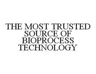 mark for THE MOST TRUSTED SOURCE OF BIOPROCESS TECHNOLOGY, trademark #78572037
