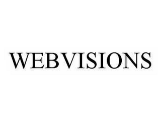 mark for WEBVISIONS, trademark #78574992