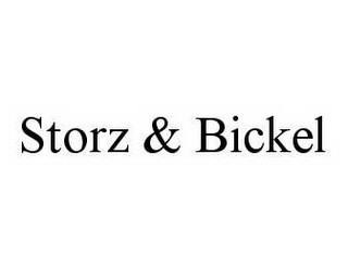 mark for STORZ & BICKEL, trademark #78578000