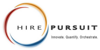 mark for HIRE PURSUIT INNOVATE. QUANTIFY. ORCHESTRATE., trademark #78578164
