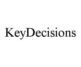 mark for KEYDECISIONS, trademark #78578174