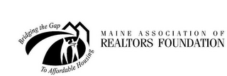 mark for BRIDGING THE GAP TO AFFORDABLE HOUSING MAINE ASSOCIATION OF REALTORS FOUNDATION, trademark #78578539