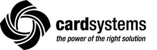 mark for CARDSYSTEMS THE POWER OF THE RIGHT SOLUTION, trademark #78579421