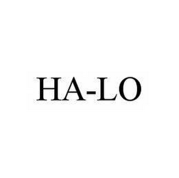 mark for HA-LO, trademark #78579668