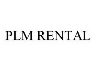 mark for PLM RENTAL, trademark #78580752
