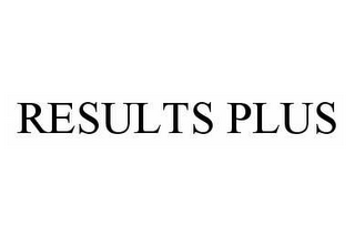 mark for RESULTS PLUS, trademark #78580837