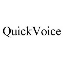 mark for QUICKVOICE, trademark #78581387