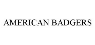 mark for AMERICAN BADGERS, trademark #78581635