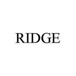 mark for RIDGE, trademark #78581677