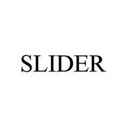 mark for SLIDER, trademark #78581703