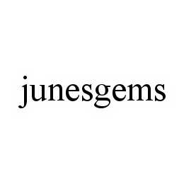 mark for JUNESGEMS, trademark #78582022