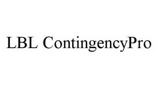 mark for LBL CONTINGENCYPRO, trademark #78582487