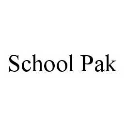 mark for SCHOOL PAK, trademark #78582950