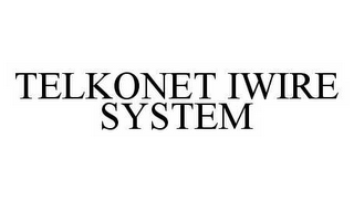 mark for TELKONET IWIRE SYSTEM, trademark #78584594