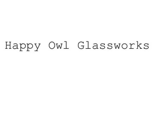 mark for HAPPY OWL GLASSWORKS, trademark #78584704