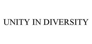 mark for UNITY IN DIVERSITY, trademark #78584845