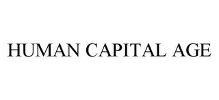 mark for HUMAN CAPITAL AGE, trademark #78585230