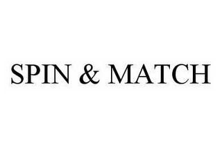mark for SPIN & MATCH, trademark #78585791
