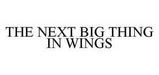 mark for THE NEXT BIG THING IN WINGS, trademark #78586856