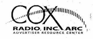mark for COX RADIO, INC. ARC ADVERTISER RESOURCE CENTER, trademark #78588270