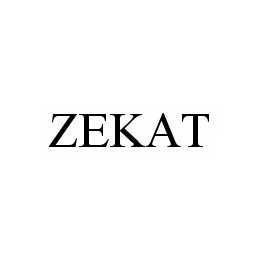 mark for ZEKAT, trademark #78588333
