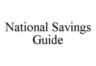 mark for NATIONAL SAVINGS GUIDE, trademark #78590119