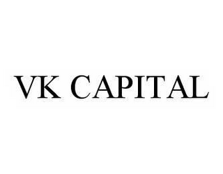 mark for VK CAPITAL, trademark #78590185