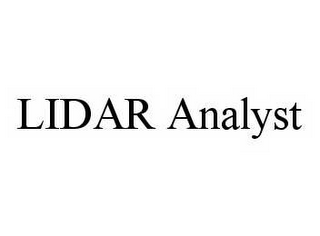 mark for LIDAR ANALYST, trademark #78590694