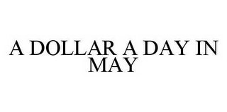 mark for A DOLLAR A DAY IN MAY, trademark #78591246