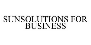mark for SUNSOLUTIONS FOR BUSINESS, trademark #78592436