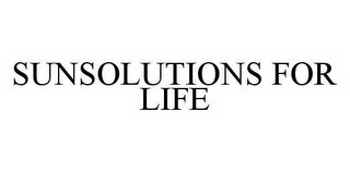 mark for SUNSOLUTIONS FOR LIFE, trademark #78592477