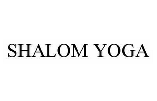 mark for SHALOM YOGA, trademark #78592575