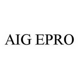 mark for AIG EPRO, trademark #78593564