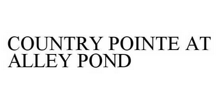 mark for COUNTRY POINTE AT ALLEY POND, trademark #78593956