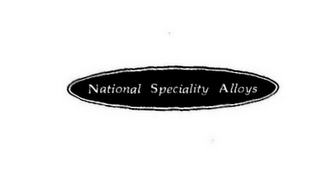 mark for NATIONAL SPECIALITY ALLOYS, trademark #78594450
