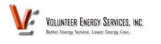 mark for VE VOLUNTEER ENERGY SERVICES, INC. BETTER ENERGY SERVICE. LOWER ENERGY COST., trademark #78594706