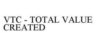 mark for VTC - TOTAL VALUE CREATED, trademark #78596323