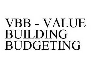 mark for VBB - VALUE BUILDING BUDGETING, trademark #78596535