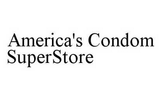 mark for AMERICA'S CONDOM SUPERSTORE, trademark #78596633