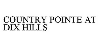mark for COUNTRY POINTE AT DIX HILLS, trademark #78596870