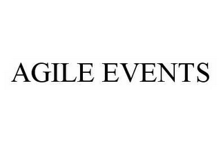 mark for AGILE EVENTS, trademark #78597225