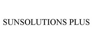 mark for SUNSOLUTIONS PLUS, trademark #78597359